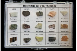 Box of 15 Minerals frome Outaouais