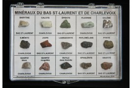 Box of 15 minerals from Lower St. Lawrence and Charlevoix
