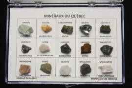 Box of 15 Minerals from Quebec
